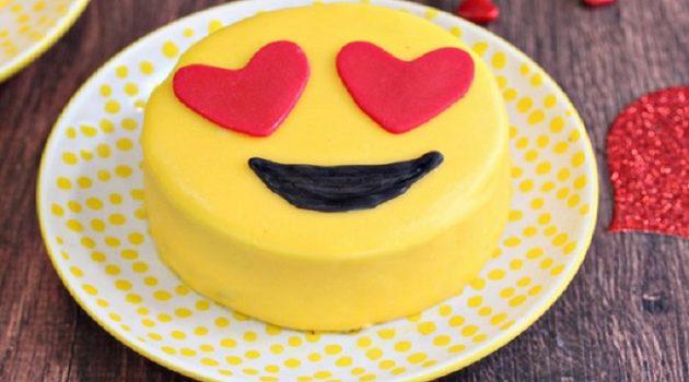 Express Emotions By Emoji Cake