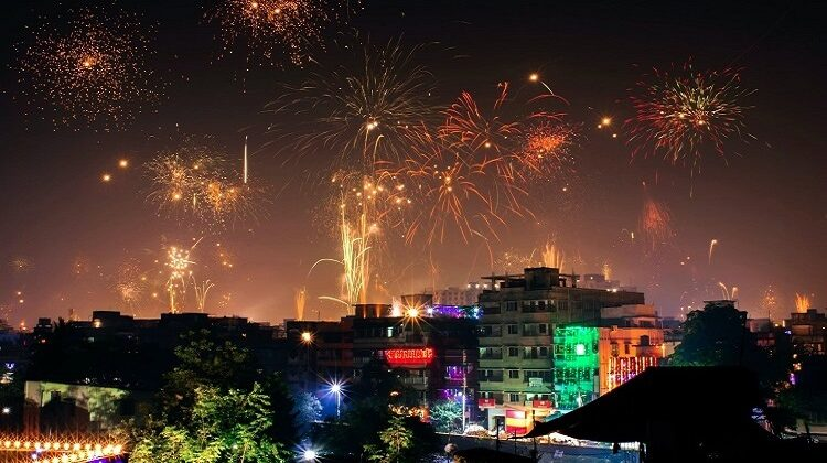 Cities In India During The Festival Of Diwali