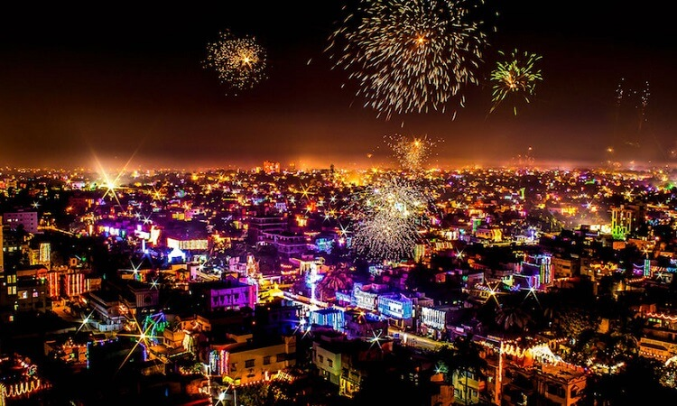 Goa Cities In India During The Festival Of Diwali